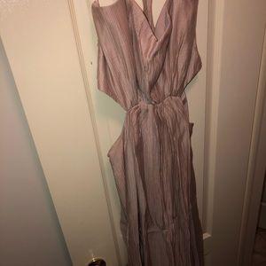 BCBG side cutout dress